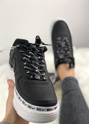 Мужские кроссовки nike air force 1 '07 se premium black/white.