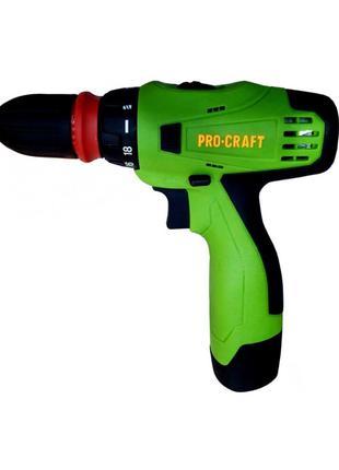 Шуруповерт Аккумуляторный Procraft PA12Pro (DFR Патрон) • Дрель