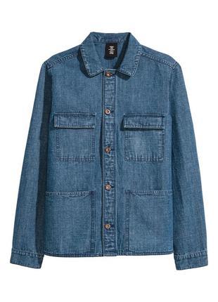 Джинсовая куртка h&m из льняного денима !