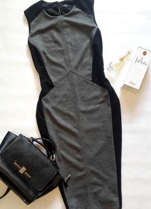 Платье миди корректирующее фигуру, платье с ассиметричным принтом
