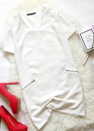 Белое платье прямого кроя, платье белого цвета ровного кроя