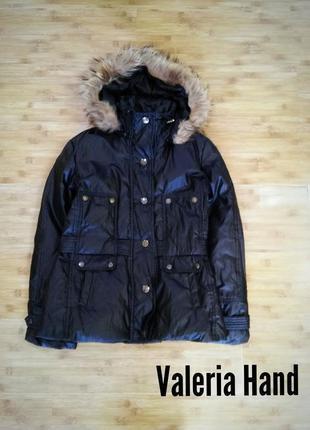 Пуховая зимняя легкая куртка just cavalli - размер 48