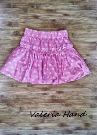 Детская милая пышная юбка - микровельвет - возраст 1-3 года