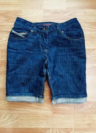 Классные джинсовые шорты с отворотом emonite - размер 42-44