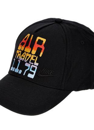 Оригинал кепка бейсболка спортивная nike air travel cap чёрная...