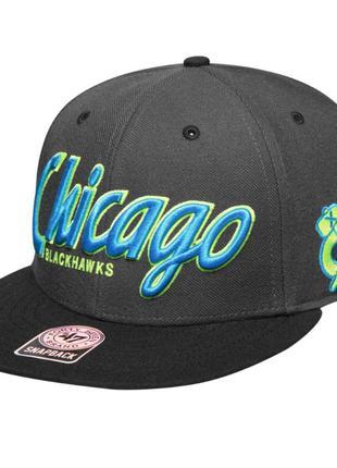 Оригинал бейсболка с прямым козырьком chicago blackhawks nhl '...