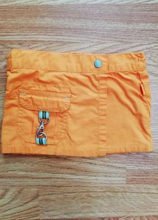 Детская стильная яркая коттоновая юбка на трикотажной подкладк...