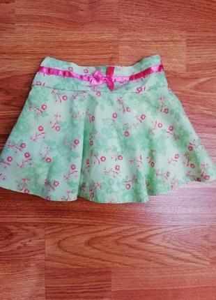 Детская летняя милая пышная юбка - шорты - возраст 1-1,5 года
