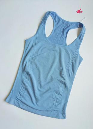 Майка crivit бесшовная эластичная спортивная, одежда для фитнеса