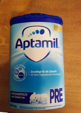 Молочная  смесь  Aptamil Pronutra Pre 800 Г  Аптамил  Пре