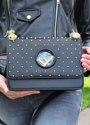 Кожаная сумка в стиле fendi