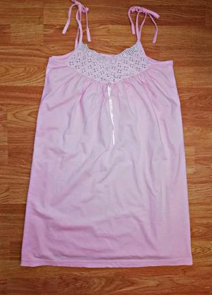 Женская ночная натуральная комбинация - сорочка - размер 44-46
