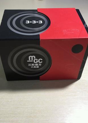 Кубик Рубика 3×3 YJ MoYu MGC v2 чёрный магнитный профессиональный
