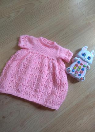 Милое нежное платье на очень маленькую принцессу повязка в под...