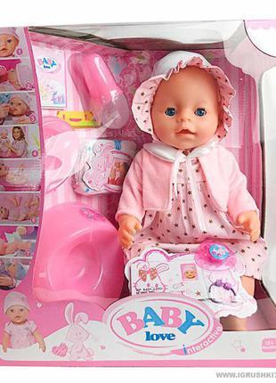 Пупс Baby Born Беби Борн BL 023 F 8 функций, памперс, горшок