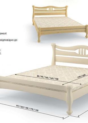 """Кровать """"Даллас"""" из сосны, ортопедические ламели, Есть в наличии."""