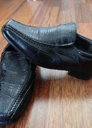 Нарядные черные туфли на мальчика