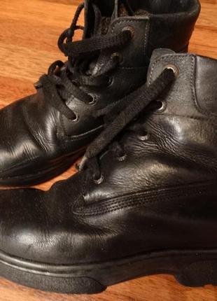 Зимние ботинки,нубук,34-35 размер