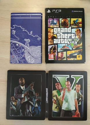 ГТА 5 Grand Theft Auto V GTA 5 special edition STEELBOOK PS3 ( РУ