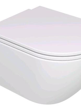 Підвісний унітаз GSG LIKE 52,5 см Smart Clean white glossy