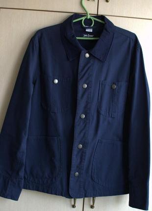 Мужская рубашка-пиджак тёмно-синяя BonPrix