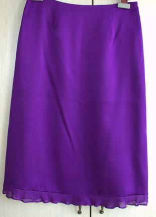 Юбка из натурального шёлка 46-48 размер,англ 8 Austin Reed