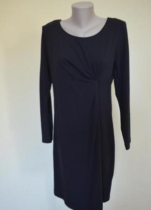 Шикарное фирменное трикотажное платье из котона черное длинный...