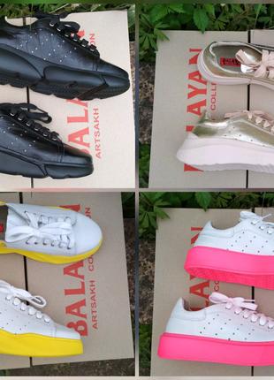 Женские кроссовки, кеды, кожа, распродажа!!!