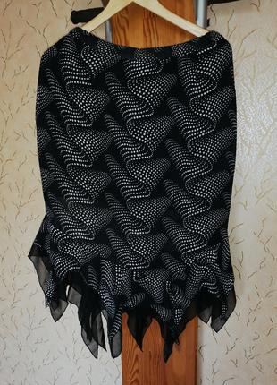 Женская юбка летняя из  шифона на подкладке размер 44