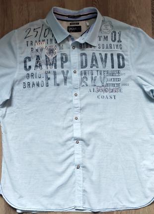 Мужская рубашка Camp David, размер XXL короткий рукав