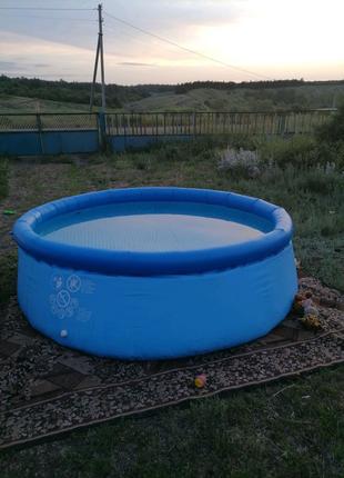 Бассейн надувной с фильтром
