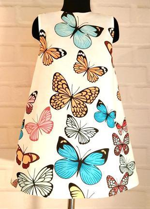 Детский сарафан. бабочки. сарафан на лето для девочек. 100% хл...