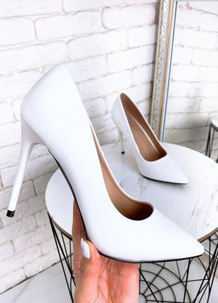 ❤ женские белые туфли лодочки  ❤
