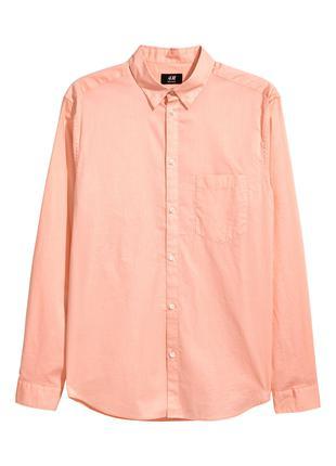 Хлопковая Рубашка H&M, Regular fit !