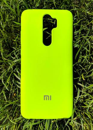 Задня накладка Xiaomi Redmi Note 8 Pro Silicone Cover Lime