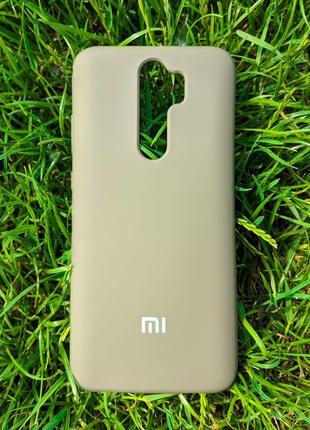 Задня накладка Xiaomi Redmi Note 8 Pro Silicone Cover Dark Olive