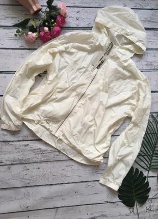 Белая ветровка куртка легкая польша кофта спортивная