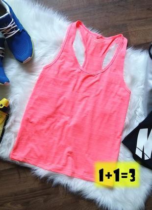 Atm workout майка спортивная m-l неон розовая спорт бег фитнес...