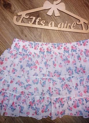 Классная шифоновая юбка terranova