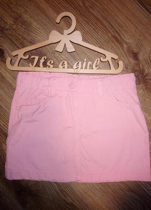 Коттоновая юбка персиковая idexe