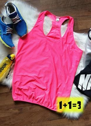 -50% 🔥 h&m sport майка спортивная xl-3xl розовая спорт бег фит...