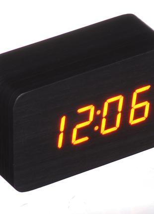 Настольные часы Led Woden Clock