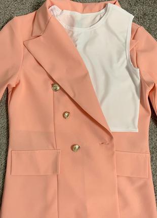 Костюм тройка, майка, пиджак, шорты