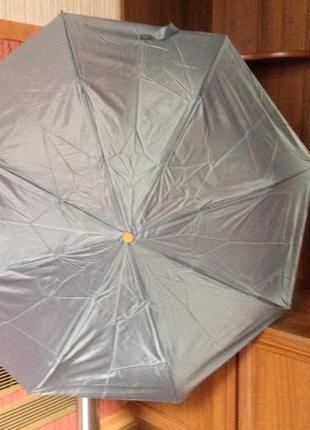 Мини зонт, светло-серый- унисекс, компактный, всего 24 см, в т...