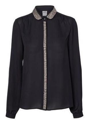 Vero moda  рубашка с бусинами р.  s