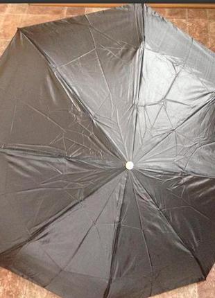 Мини зонт, серый- унисекс, компактный, всего 24 см, в три слож...