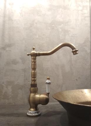 смеситель бронза медь лофт змішувач мідь латунь