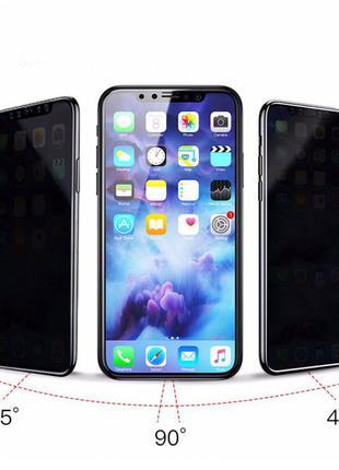 Защитное стекло 3D Антишпион (privacy) IPhone 7 8 X XS XR 11 11pr