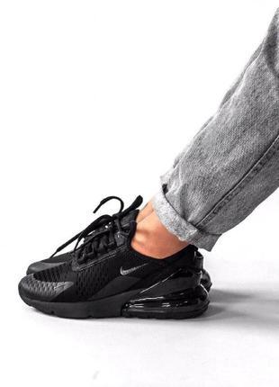Кроссовки nike air max 270 black купить найк аир макс черные
