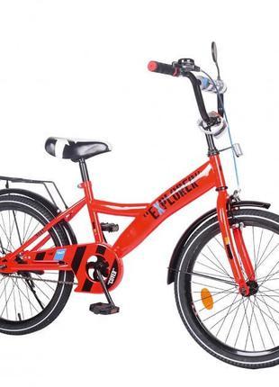 """Двухколесный велосипед для детей EXPLORER, 20"""" T-220111, с ручным"""